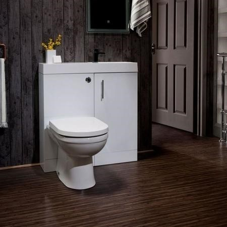 MicroPlus White Cloakroom Pack with Delta Toilet