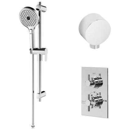 EcoStyle Thermostatic Dual Shower Valve with Rina Slide Rail Kit