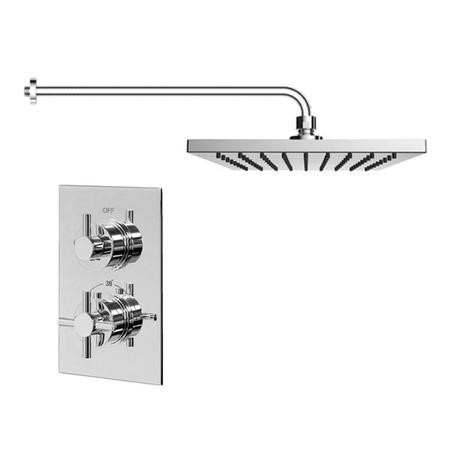 EcoStyle Thermostatic Dual Shower Valve With Overhead and Wall arm