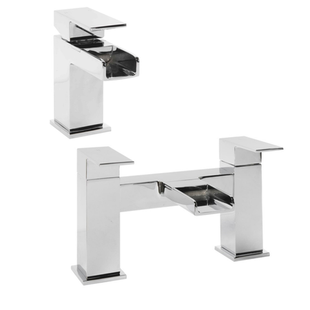 Quadra Waterfall Basin and Bath Tap Pack