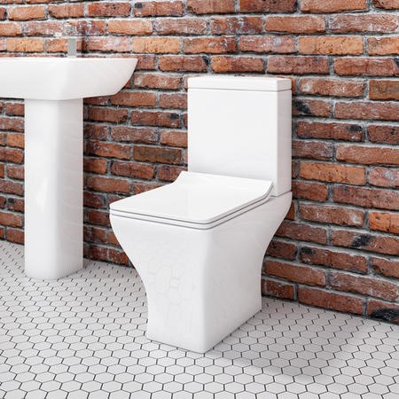 Short Projection Toilet with Slim Soft Close Seat - Austin Range