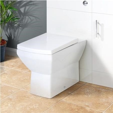 Back to Wall Toilet with Soft Close Seat - Square - Tabor Range
