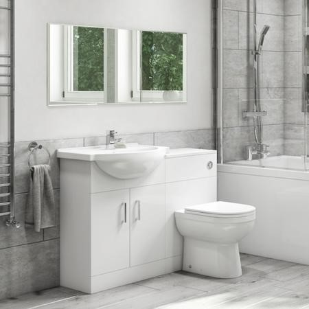 Basin Vanity Combination Unit with Back to Wall Toilet 550mm - Classic Range