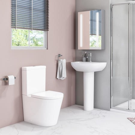 Newport Close Coupled Toilet and Basin Suite