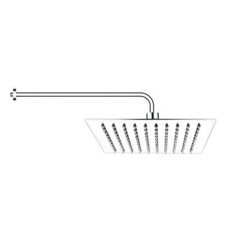 250mm Ultra Slim Square Shower Head with Wall Arm