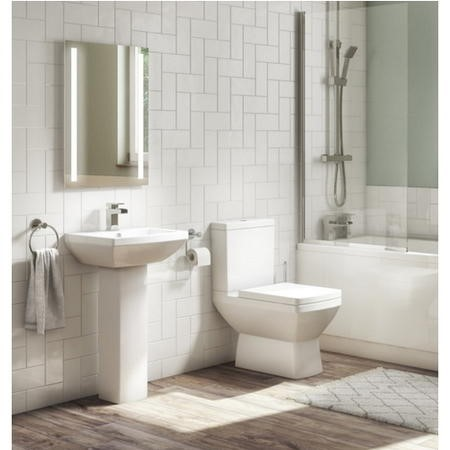 Tabor Close Coupled Toilet and Full Pedestal Basin Suite