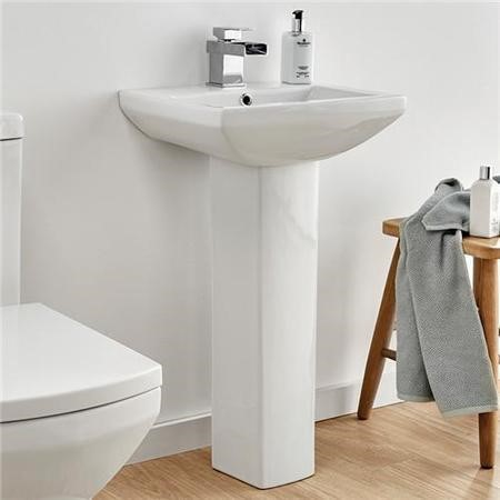 Tabor 460mm Basin and Pedestal - tap