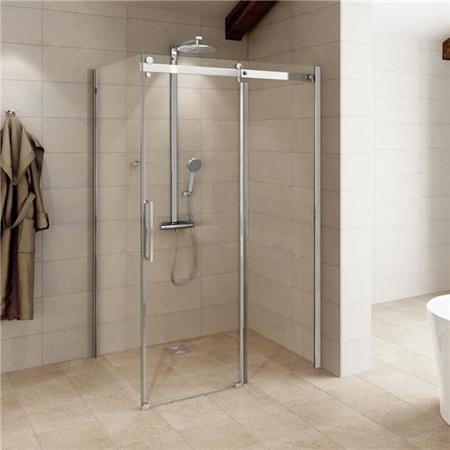 Sliding Shower Enclosure 1400 x 900mm - 8mm Easy Clean Glass - Aquafloe Elite Range