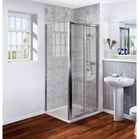 Bi Fold Door Shower Enclosure 1000mm - 6mm Glass - AquaFloe Range