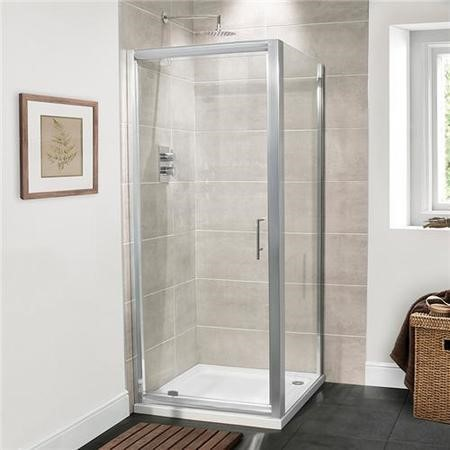 Pivot Enclosure with Tray 800 x 760mm 6mm Glass - AquaFloe Range