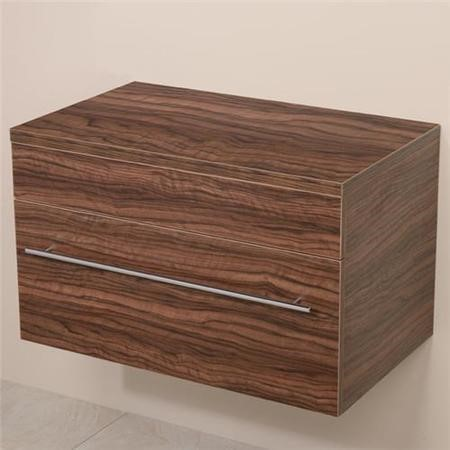 750mm Wall Hung Storage Unit - Walnut Single Drawer Unit - Aspen Range