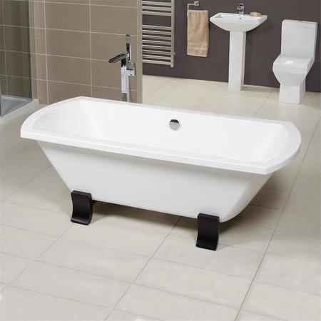 Tabor Double Ended Freestanding Bath - 1800 x 840mm