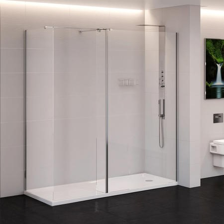 1400 x 900mm Walk-In Enclosure with Shower Tray 10mm Glass - Trinity