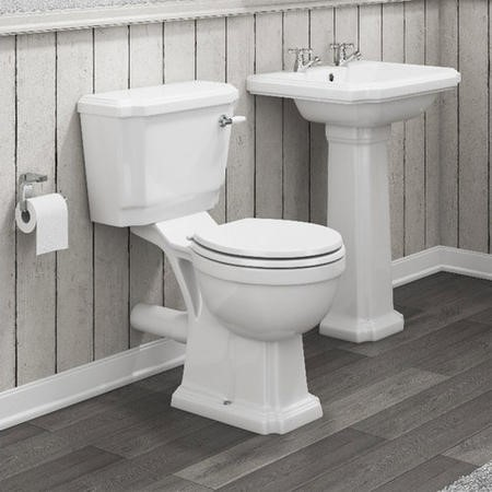 Taylor & Moore Traditional Close Coupled Toilet with Soft Close Seat