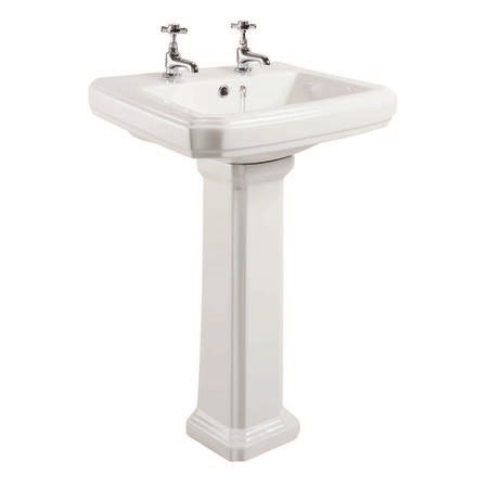Taylor & Moore Traditional Low Level Toilet & Basin Bathroom Suite