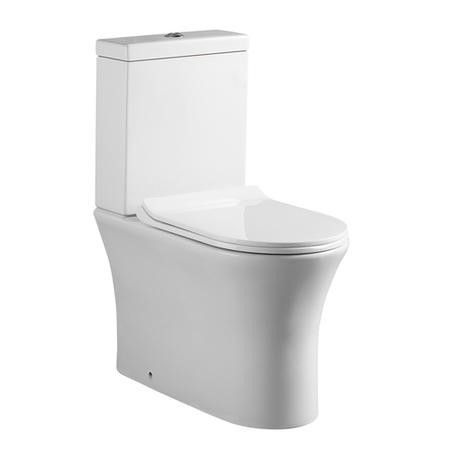 Close Coupled Toilet with Slim line Soft Close Seat
