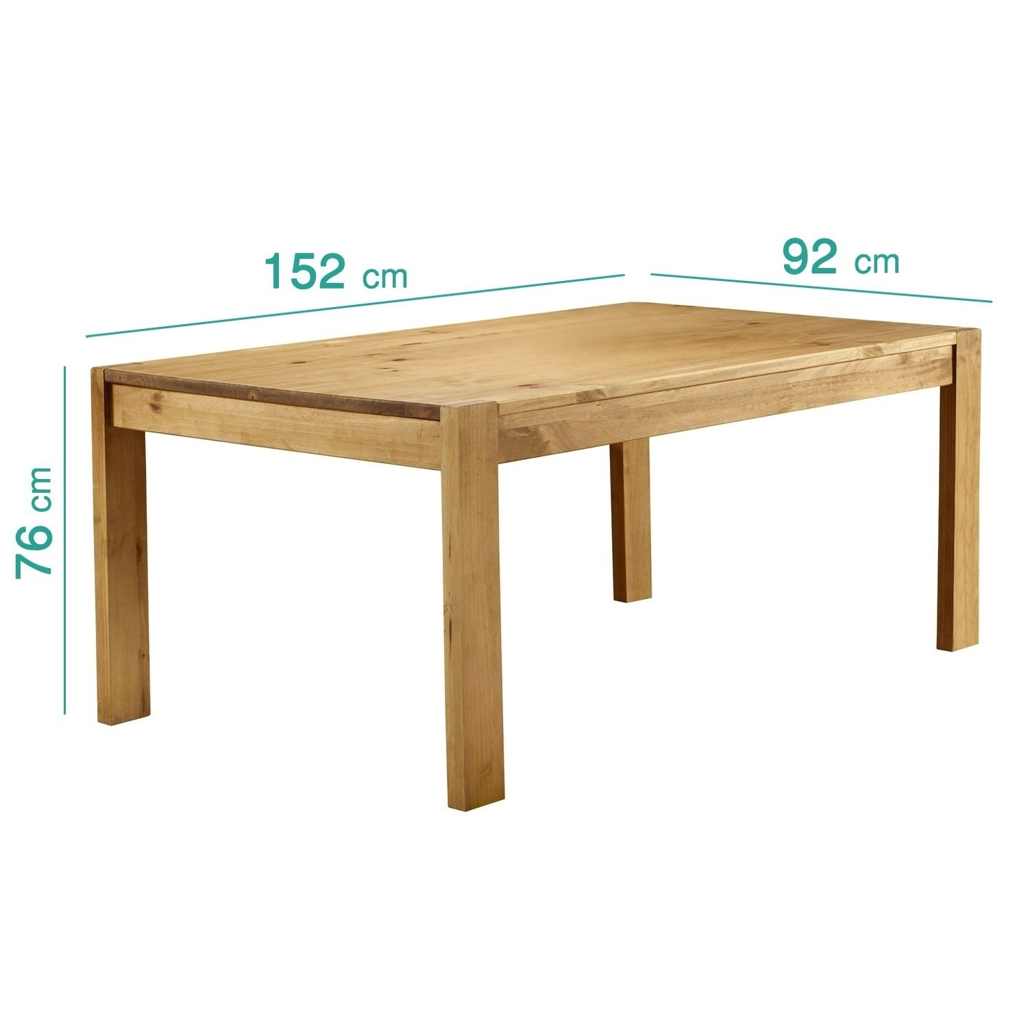 Emerson Solid Pine Kitchen Dining Table Set Includes 2