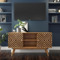 Freya Large Solid Wood TV Unit with Storage Cupboards - TV's up to 56