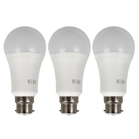 electriq smart lighting colour wifi bulb with b22 bayonet ending alexa google home. Black Bedroom Furniture Sets. Home Design Ideas