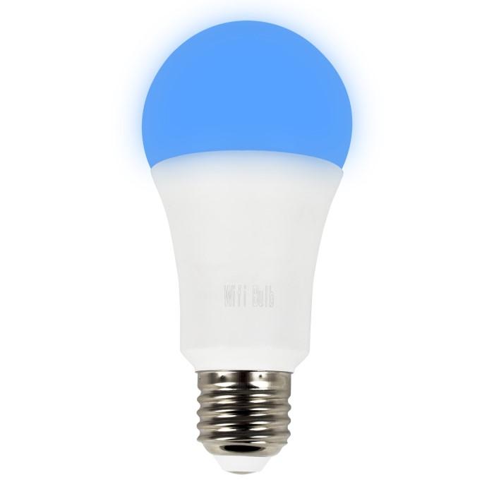 electriq smart lighting colour wifi bulb with e27 screw ending alexa google home compatible. Black Bedroom Furniture Sets. Home Design Ideas