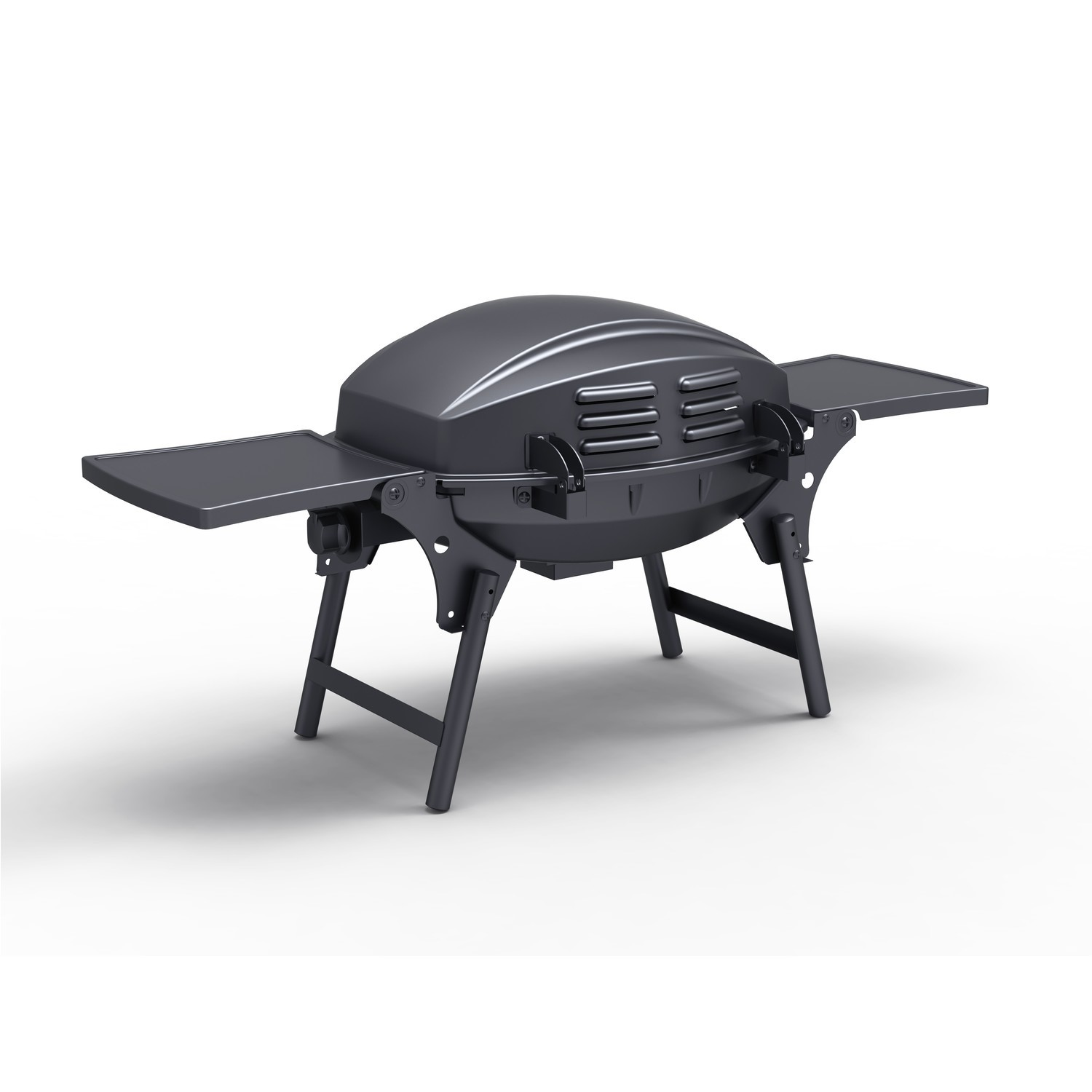 Portable 1 Burner Gas BBQ Grill   Includes BBQ Cover And Utensil Set