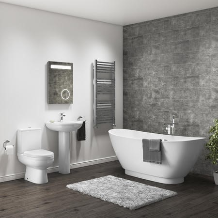 Modern Curved Freestanding Bath Suite