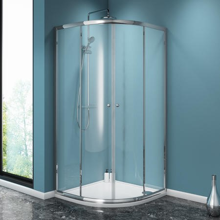 900 x 900 Quadrant Sliding Shower Enclosure - 4mm Glass - Taylor & Moore