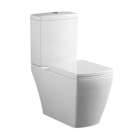 Square Close Coupled Toilet with Soft Close Seat