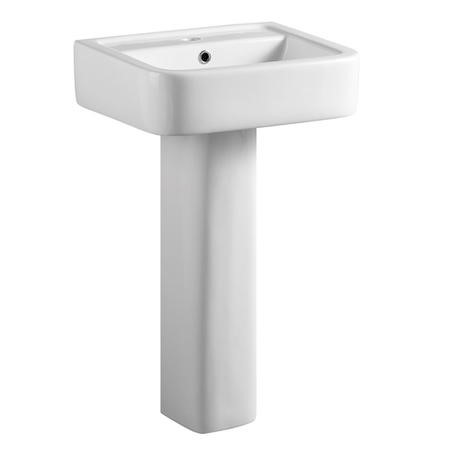 Square Pedastal Sink - 1 Tap Hole