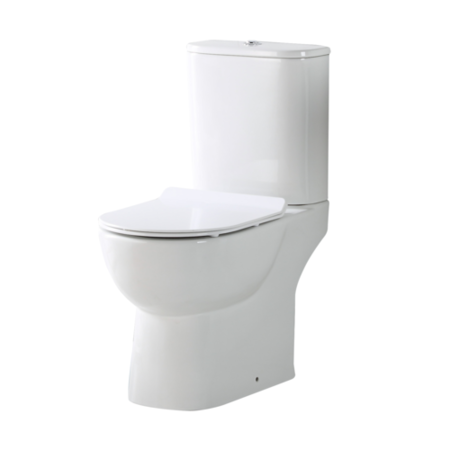 Close Coupled Rimless Toilet with Soft Close Seat