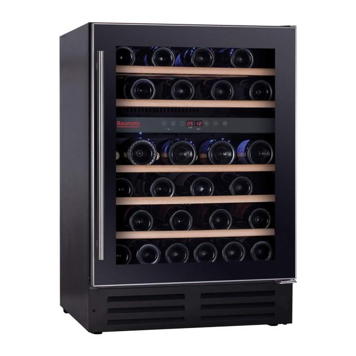 Baumatic Bwc605ss Dual Zone 46 Bottle Wine Cooler Black