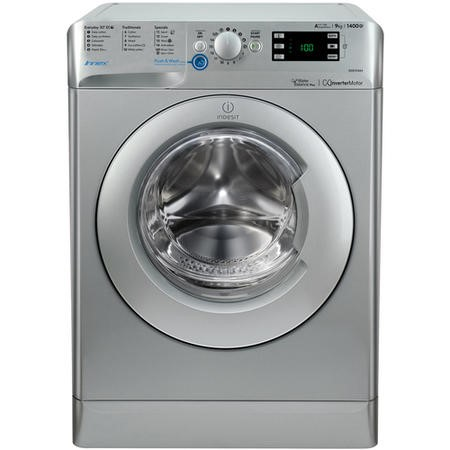 Indesit BWE91484XSUK Innex 9kg 1400rpm Freestanding Washing Machine-Silver