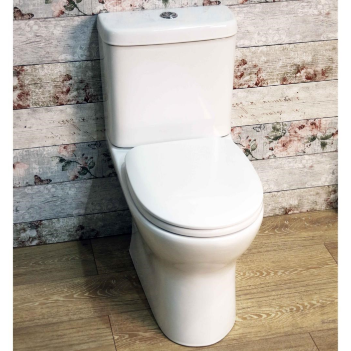 Rimless Close Coupled Toilet with Soft Close Seat BZE-CCPAN ...