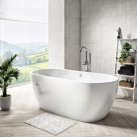 Lisbon Freestanding Bath Double Ended - 1650 x 750mm