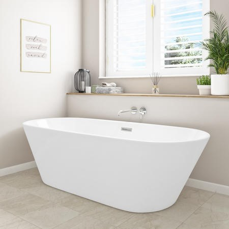 Bari Round Double Ended Freestanding Bath - 1700 x 740mm