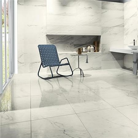 Statuario Living Polished Porcelain Rectified Wall/Floor Tile