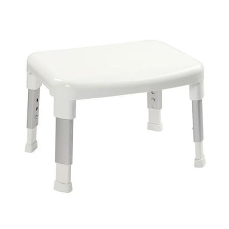 Small White Adjustable Shower Stool