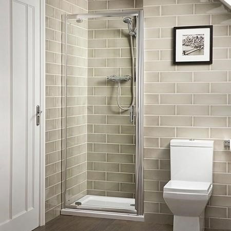 Pivot Shower Door 760mm - 6mm Glass - Aqualine Range