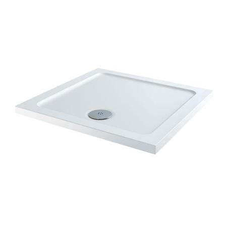 Square Low Profile Shower Tray 760 x 760mm - Slim Line