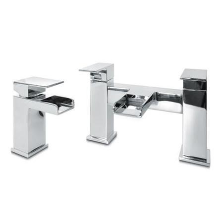 Waterfall Basin Mixer and Bath Filler Tap Pack
