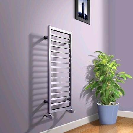 1000 x 450mm Square Chrome Heated Towel Rail - Julian Range
