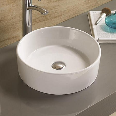 Alaska White Round Countertop Basin - 385mm