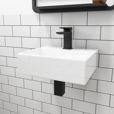 Houston Wall Hung Cloakroom Basin - 300mm