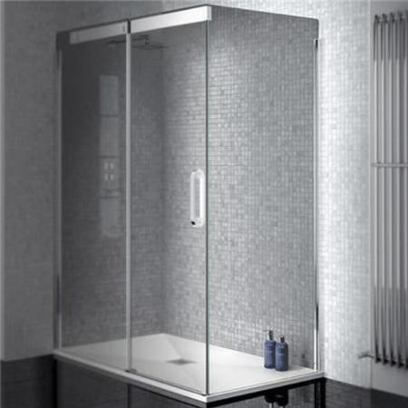Side Panel 900mm - 8mm Smoked Glass - Neptune Range