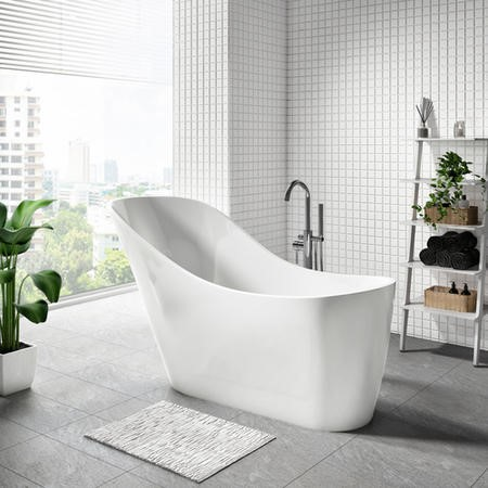 Newport Freestanding Extended Slipper Bath - L1535 x W715mm