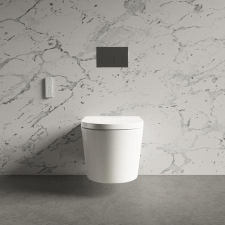 Wall Hung Bidet Toilet Combo - Built in Dryer & Spray-Purificare