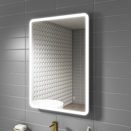 Ariel Illuminated LED Bathroom Mirror with Demister - 500 x 700mm