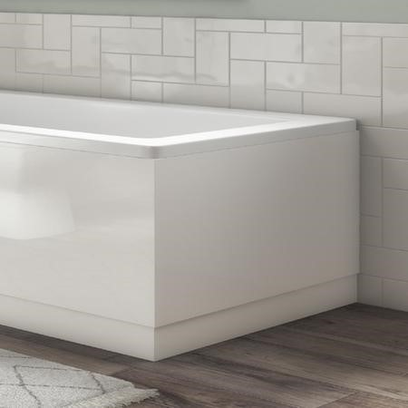 700mm White Gloss Bath End Panel - Ashford