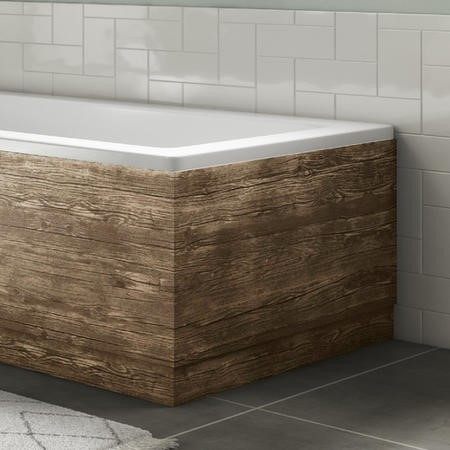 700mm Grey Wood Grain Bath End Panel - Ashford