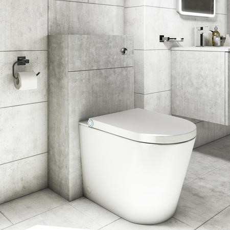 500mm Concrete Effect WC Toilet Unit - Sion
